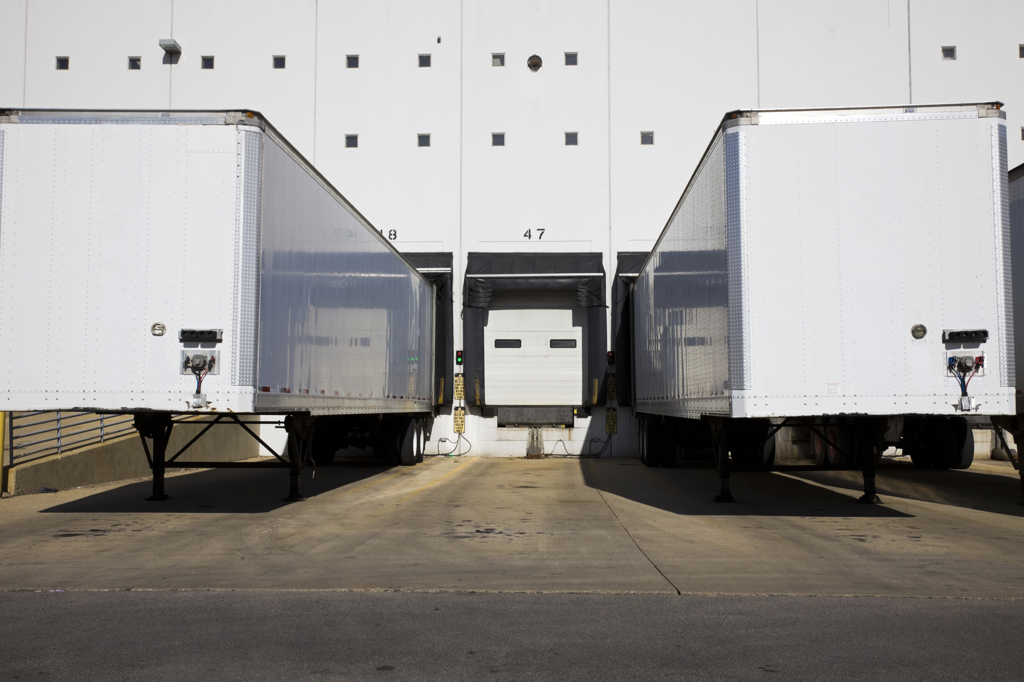 Trucks at loading dock