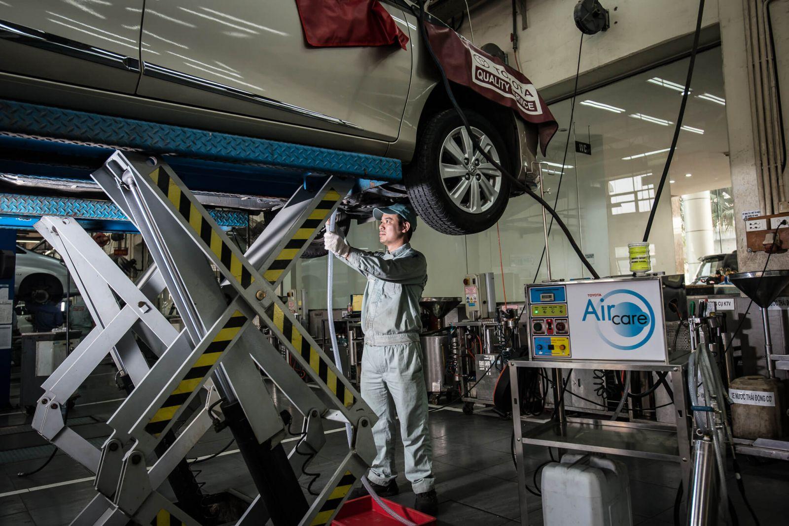 Bảo dưỡng xe ô tô Toyota - Chi Phí bảo dưỡng Toyota