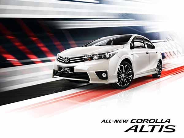 giá xe altis 1.8 và Corolla altis 2.0