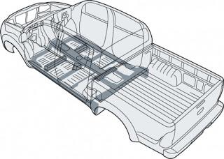Hệ thống khung xe GOA toyota hilux 2.5 E