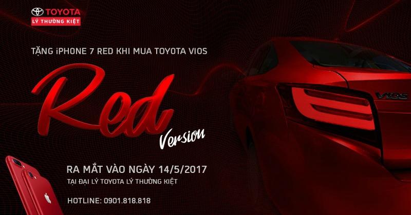 khuyến mãi mua xe Toyota Vios 2017 red