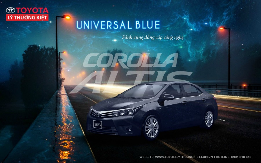 Phần đầu xe altis 2017 - blue