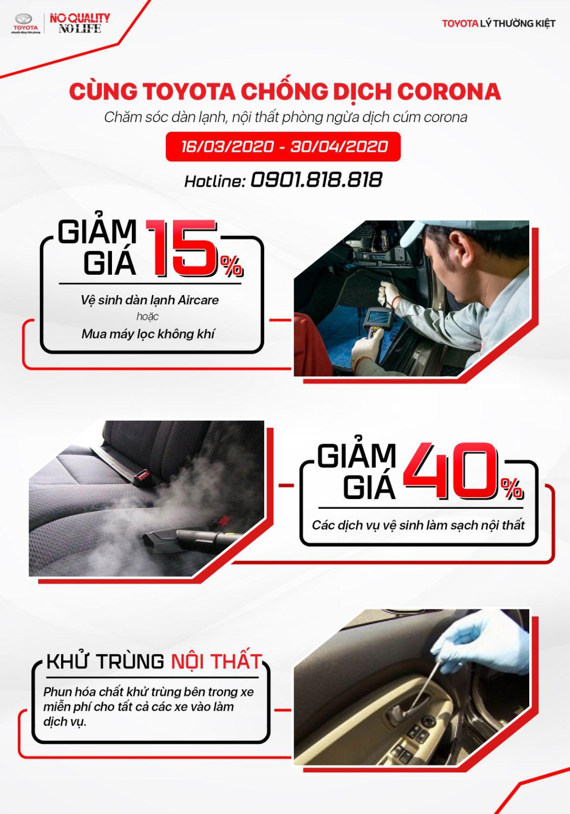 Giảm giá vệ sinh nội thất ô tô và sản phẩm dịch vụ