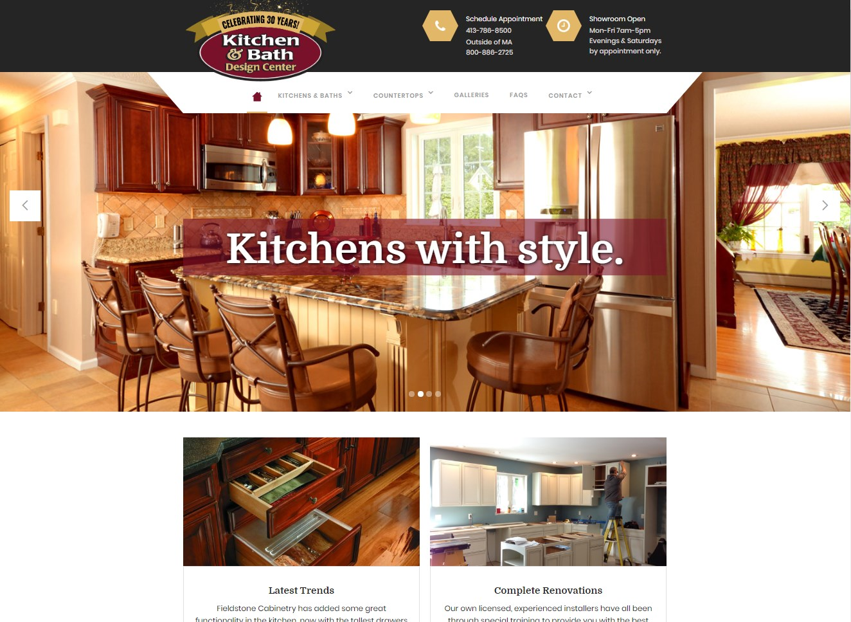 Kitchen Bath Design Center website screenshot