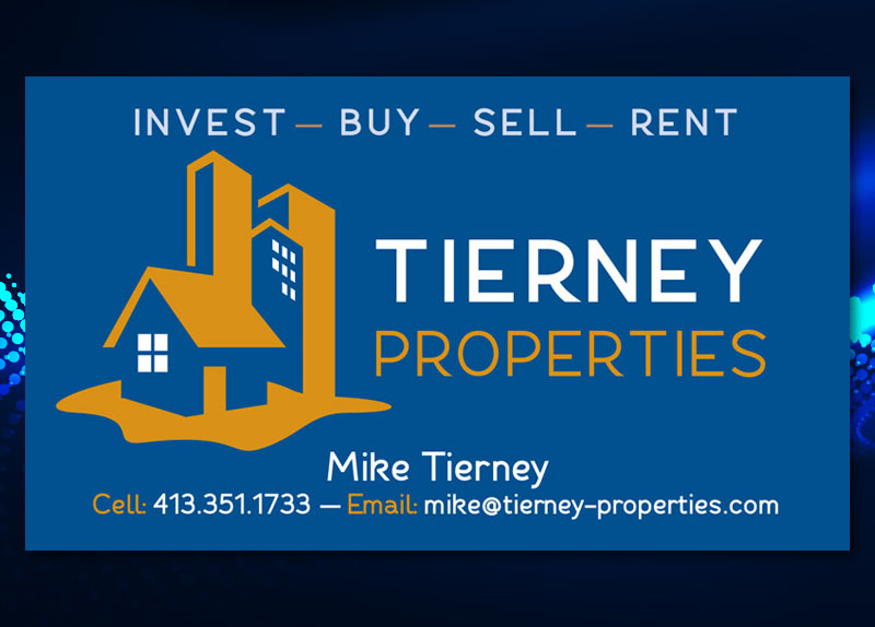 Tierney Properties Business Card design
