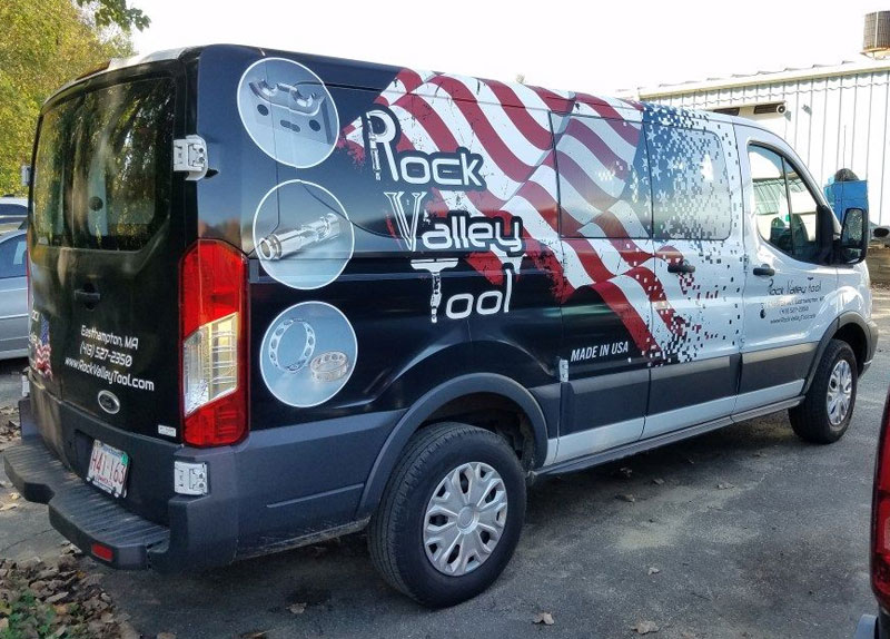 Partial van wrap for Rock Valley tool