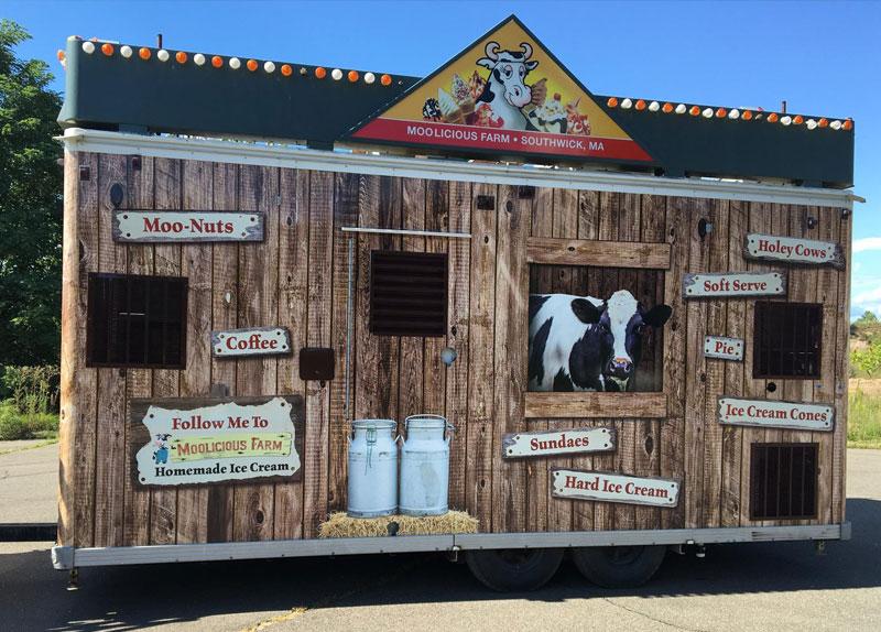 Moolicious Ice Cream trailer wrap for Big E