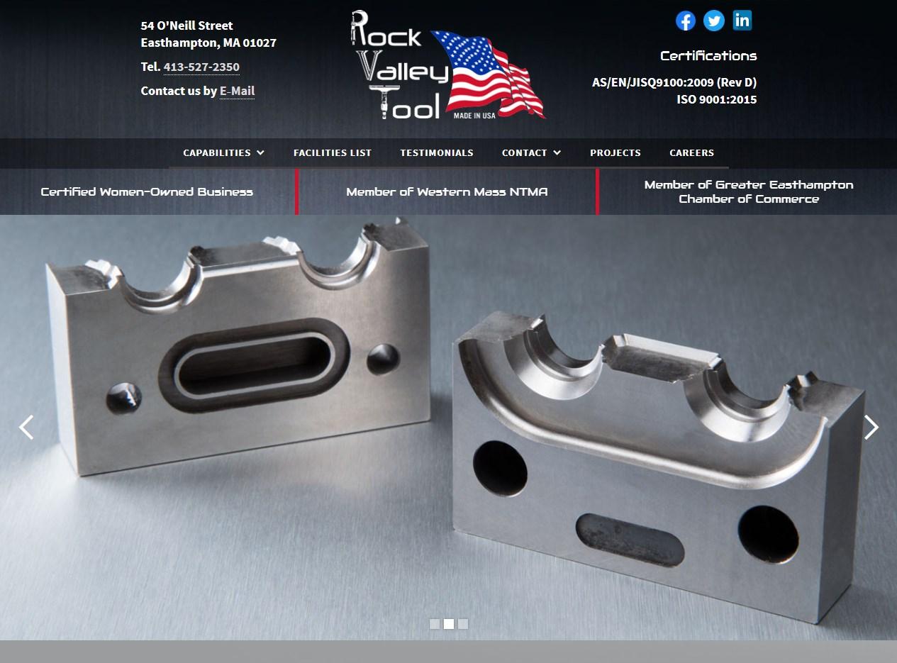 Rock Valley Tool website screenshot