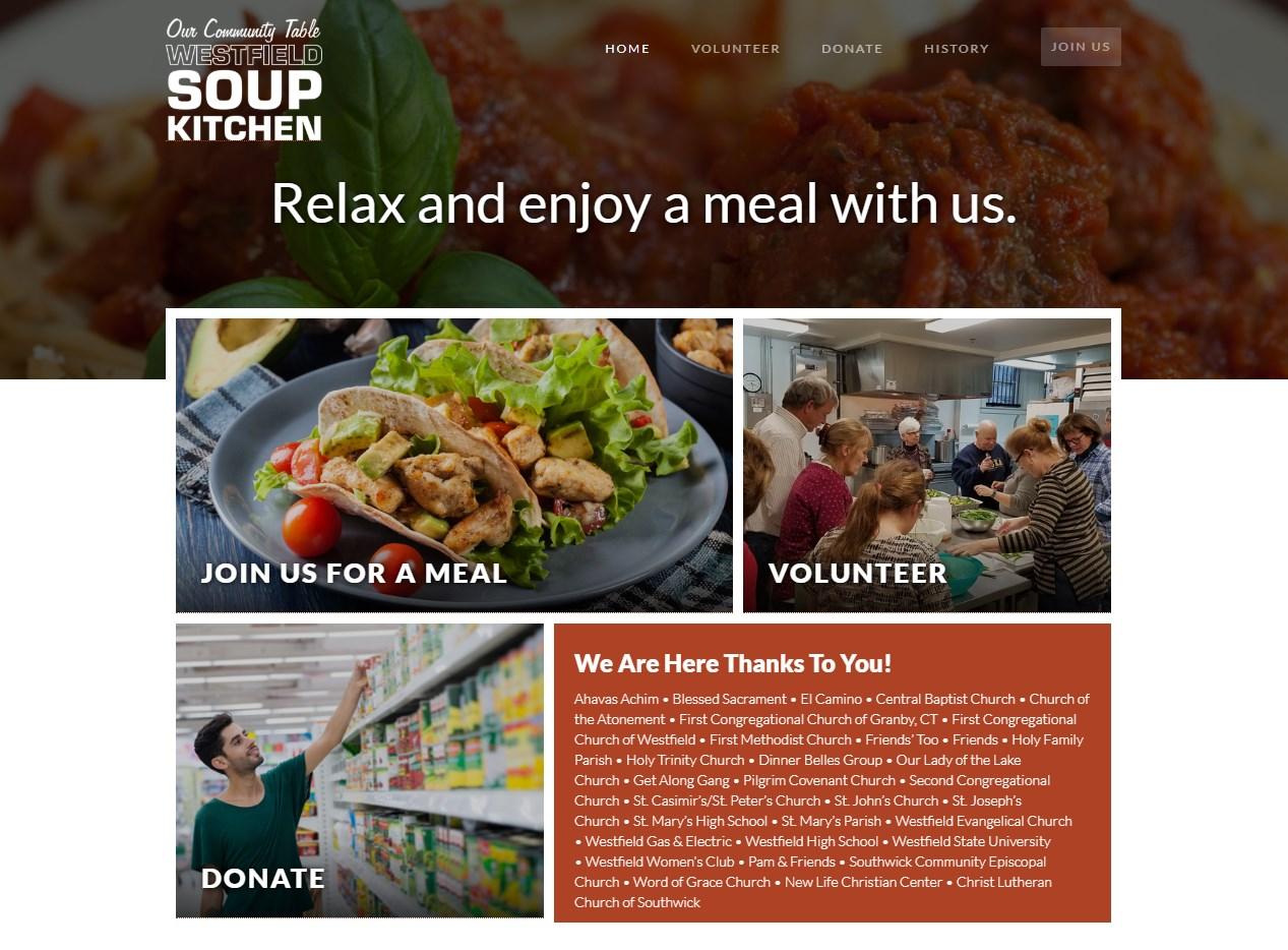Westfield Community Soup Kitchen website screenshot