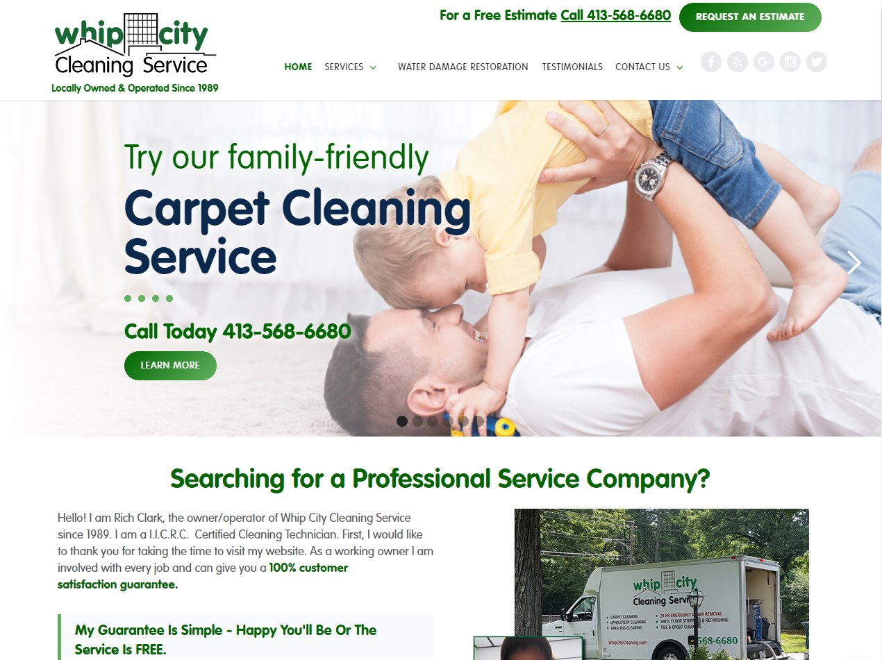 Whip City Cleaning website screenshot