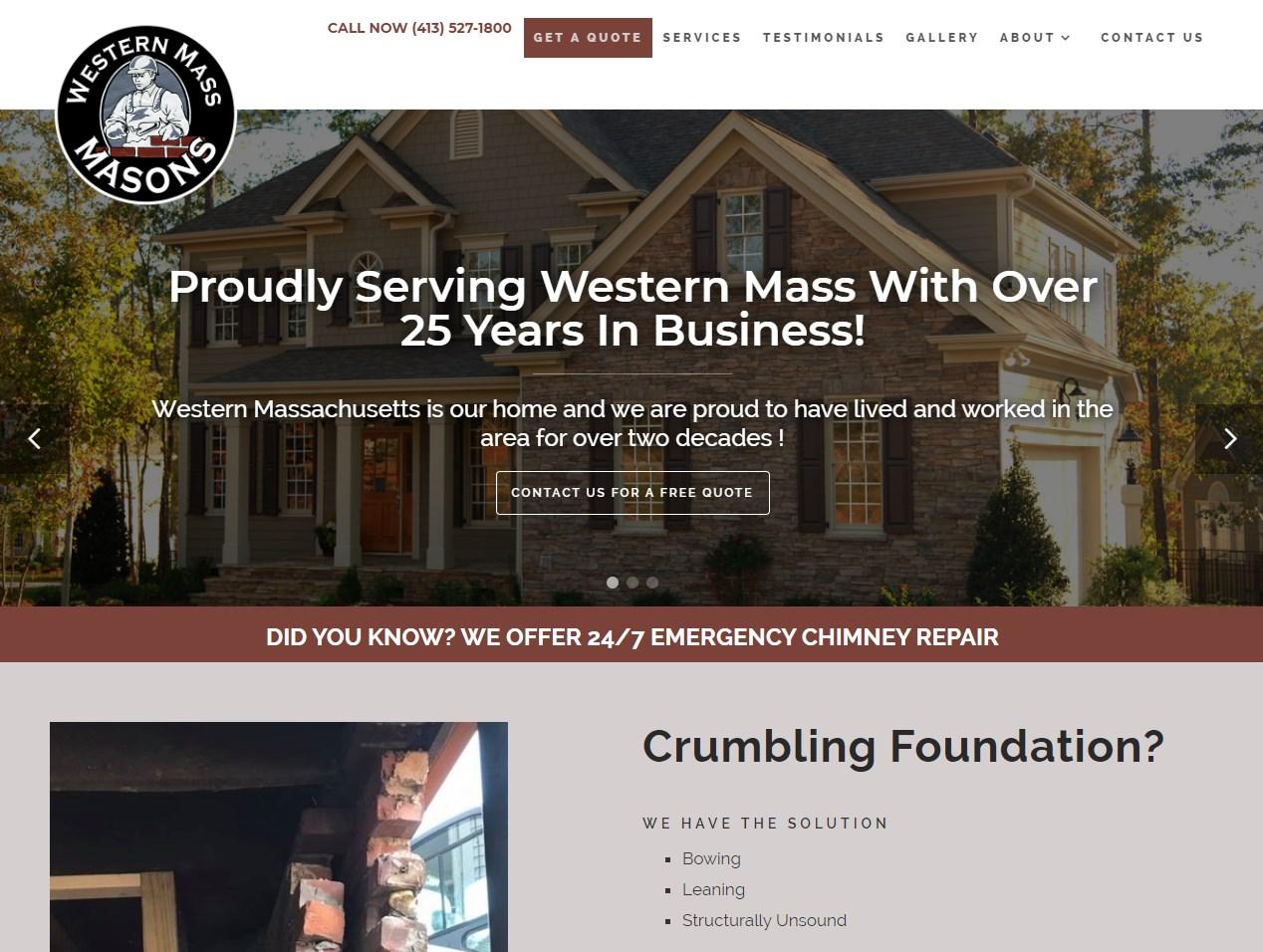 Western Mass Masons website screenshot