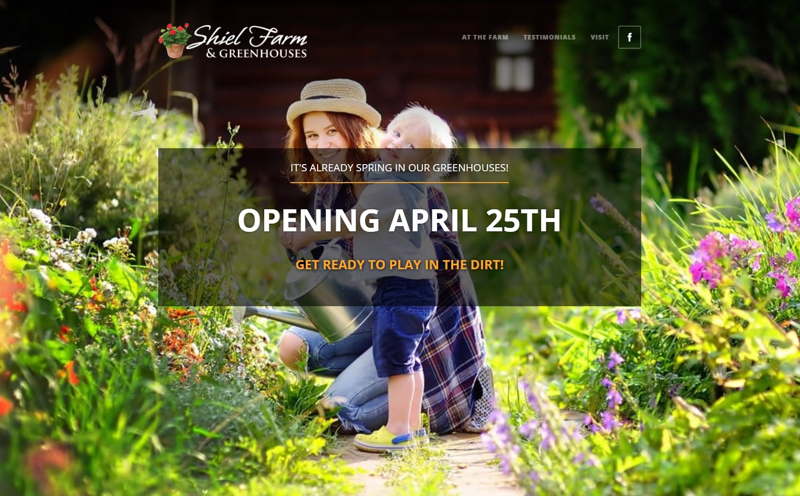 Shiel Farms website screenshot