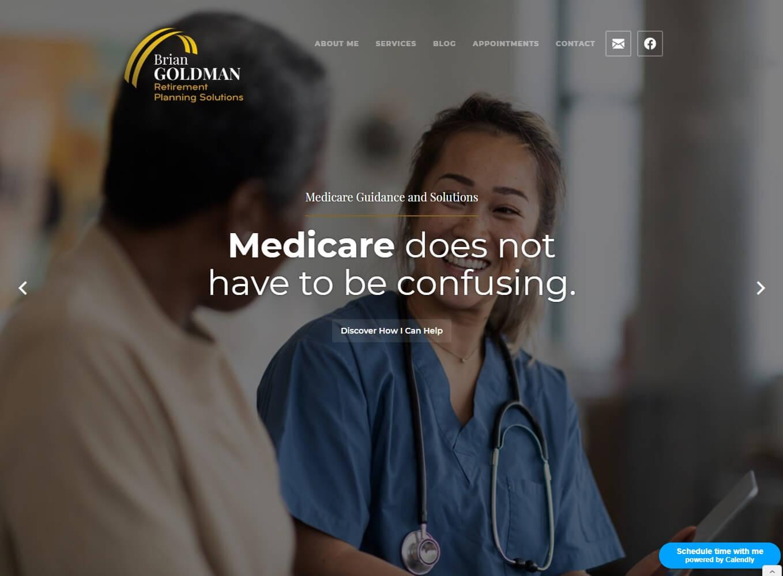 Brian Goldman Retirement Planning Solutions website screenshot