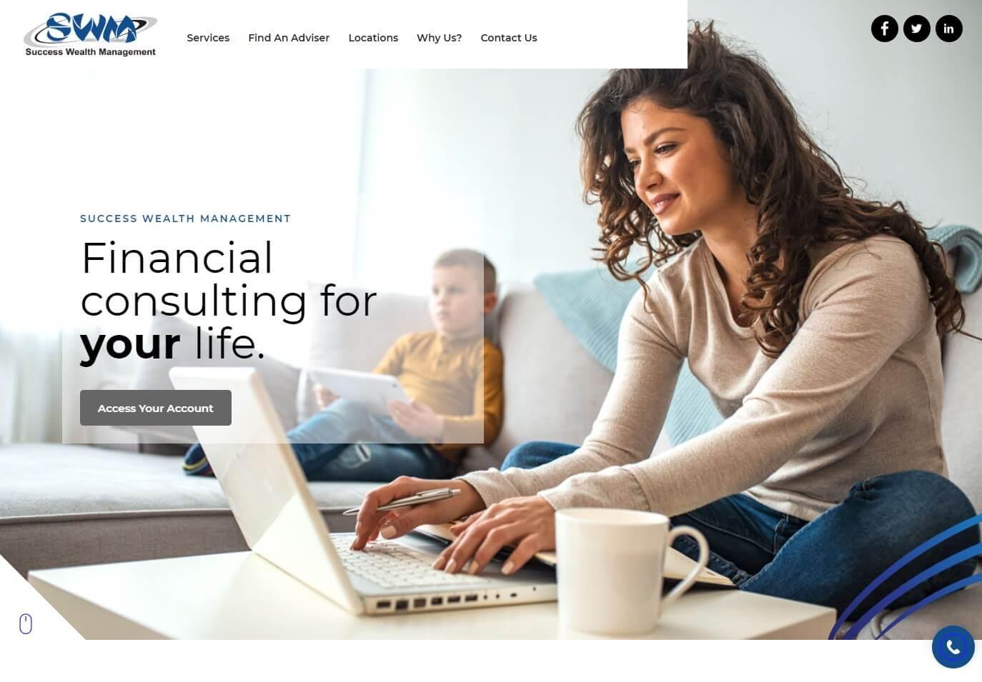 Success Wealth Management website screenshot