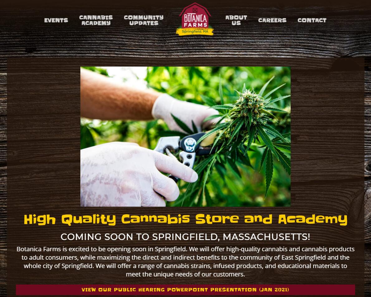 Botanica Farms website