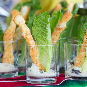 Romaine Cheese Appetizers