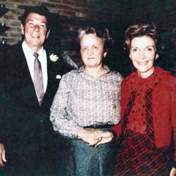 Rosemary with President Ronald and First Lady