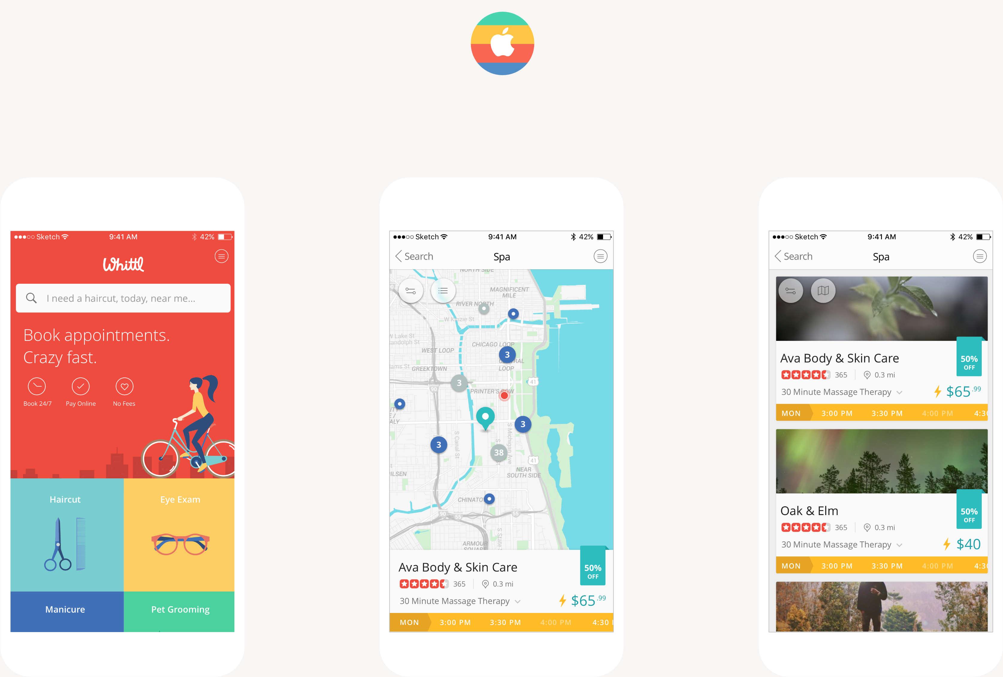 iOS app design.