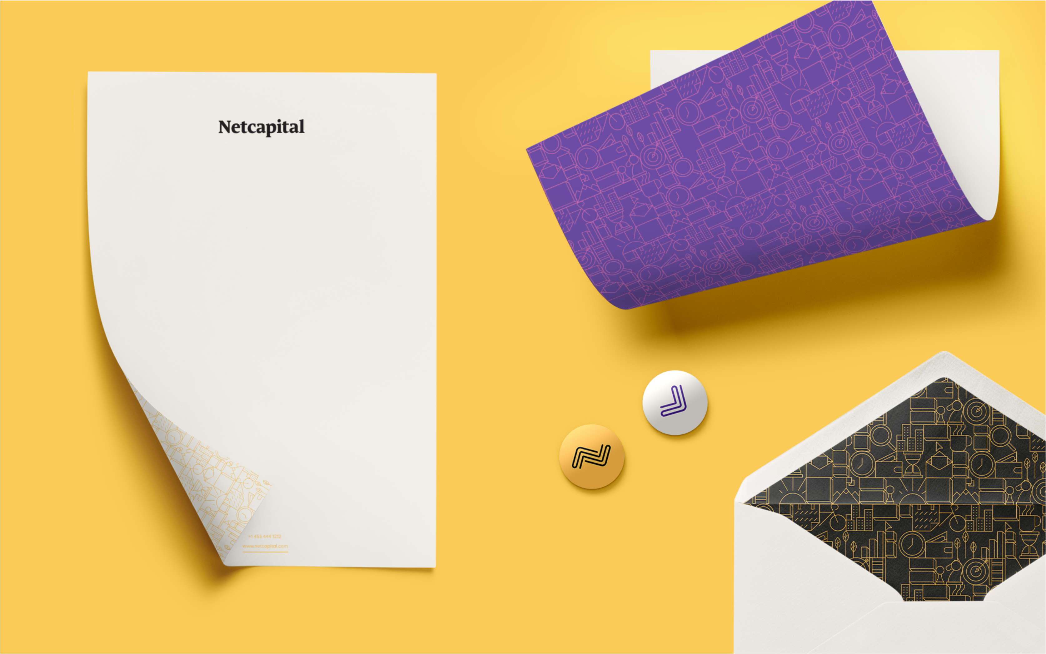 Netcapital branding collateral design.