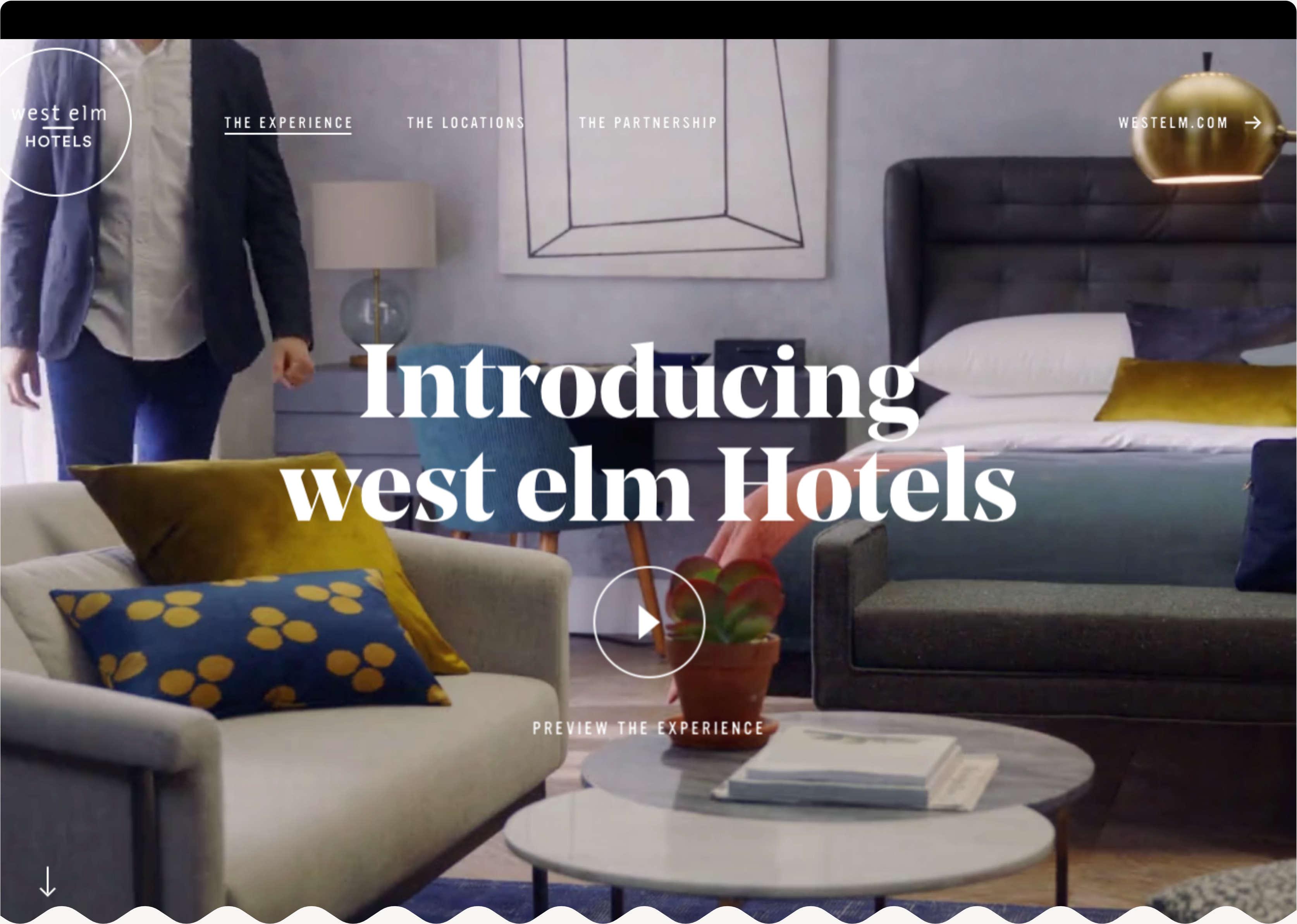 West Elm Hotels Homepage