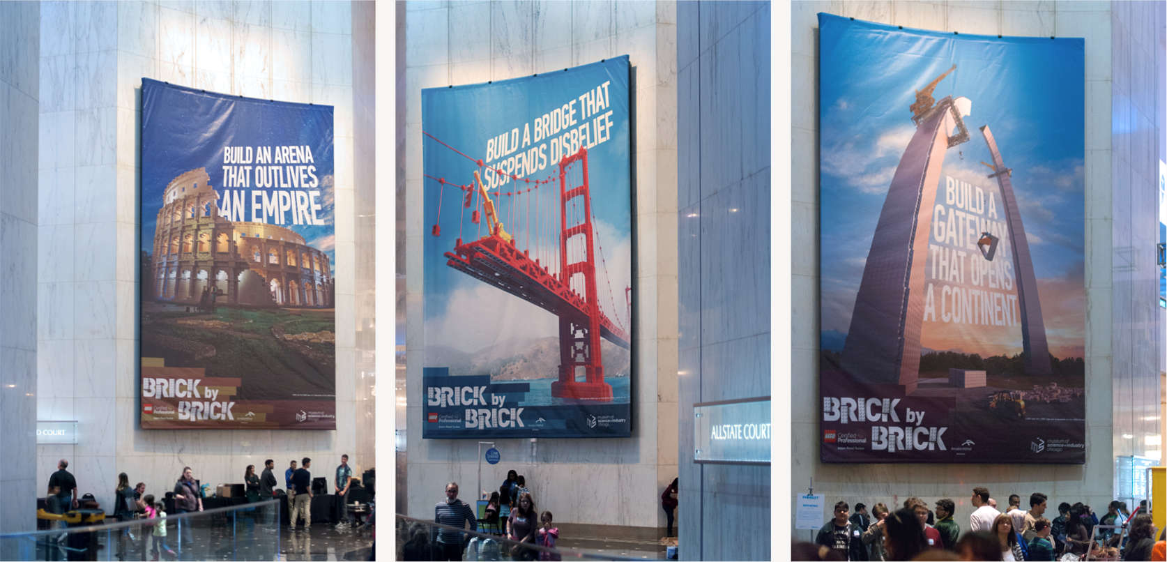 Large scale banner designs.