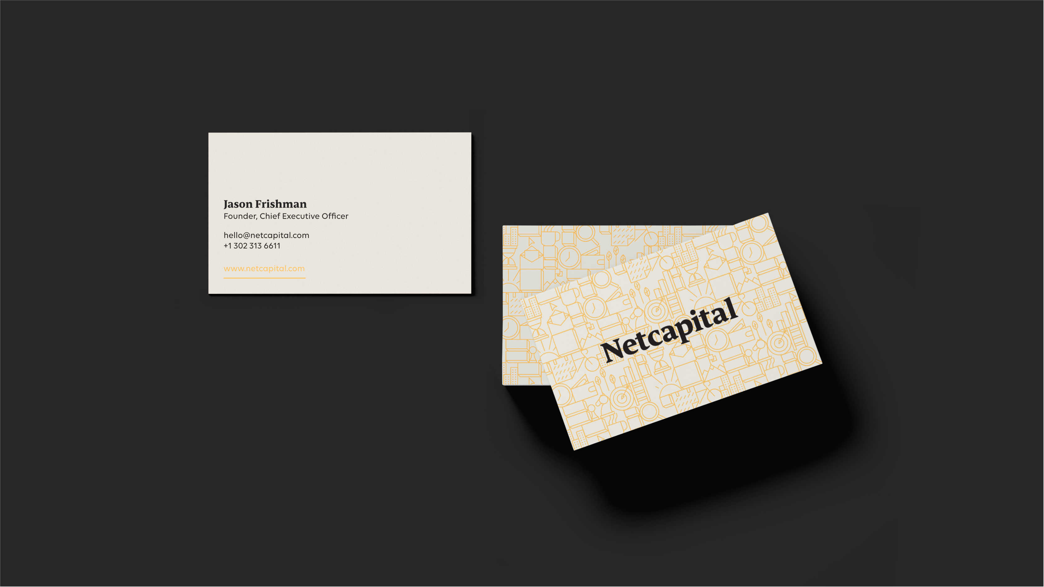 Netcapital business card design.