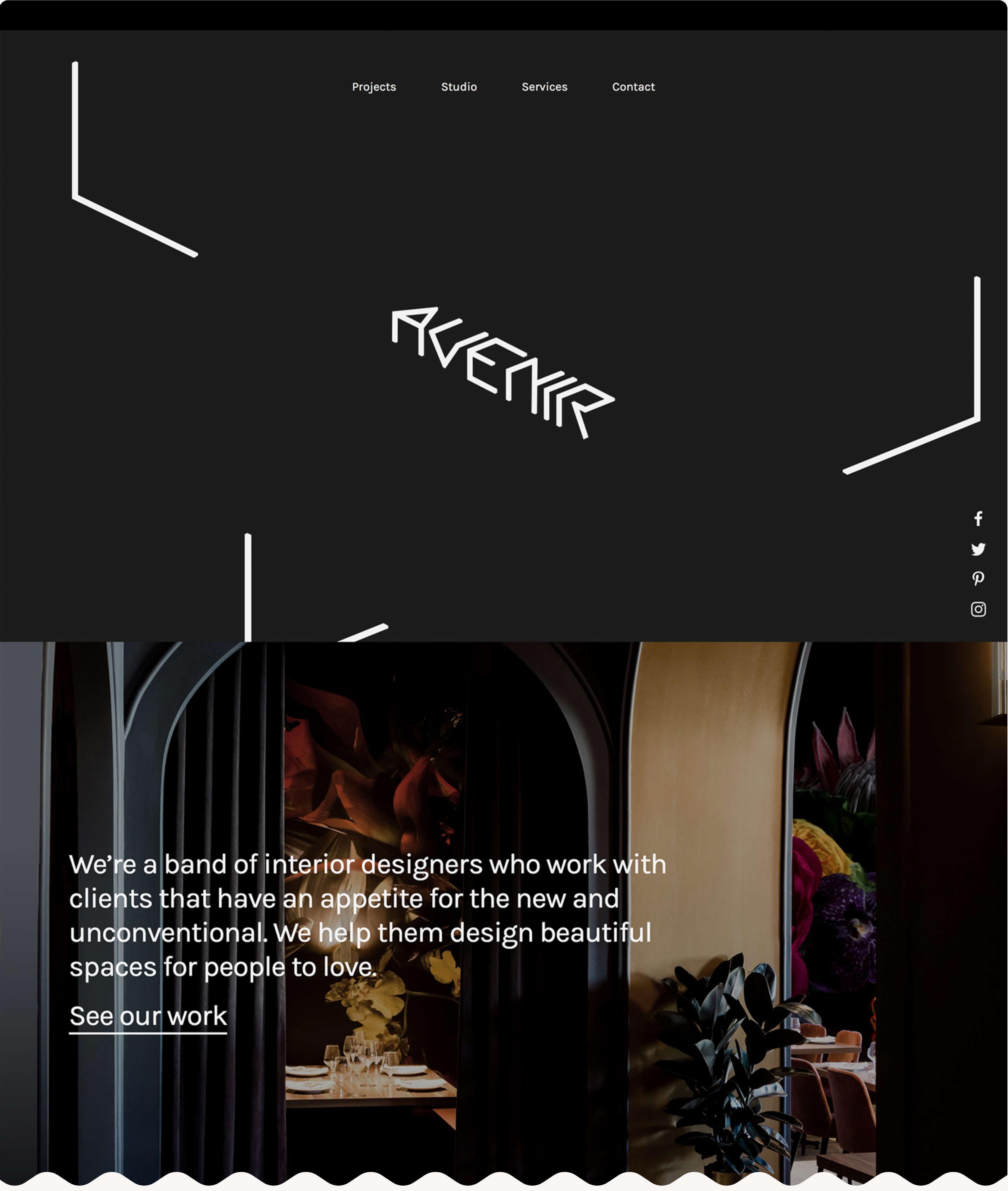 Avenir .com homepage on desktop.