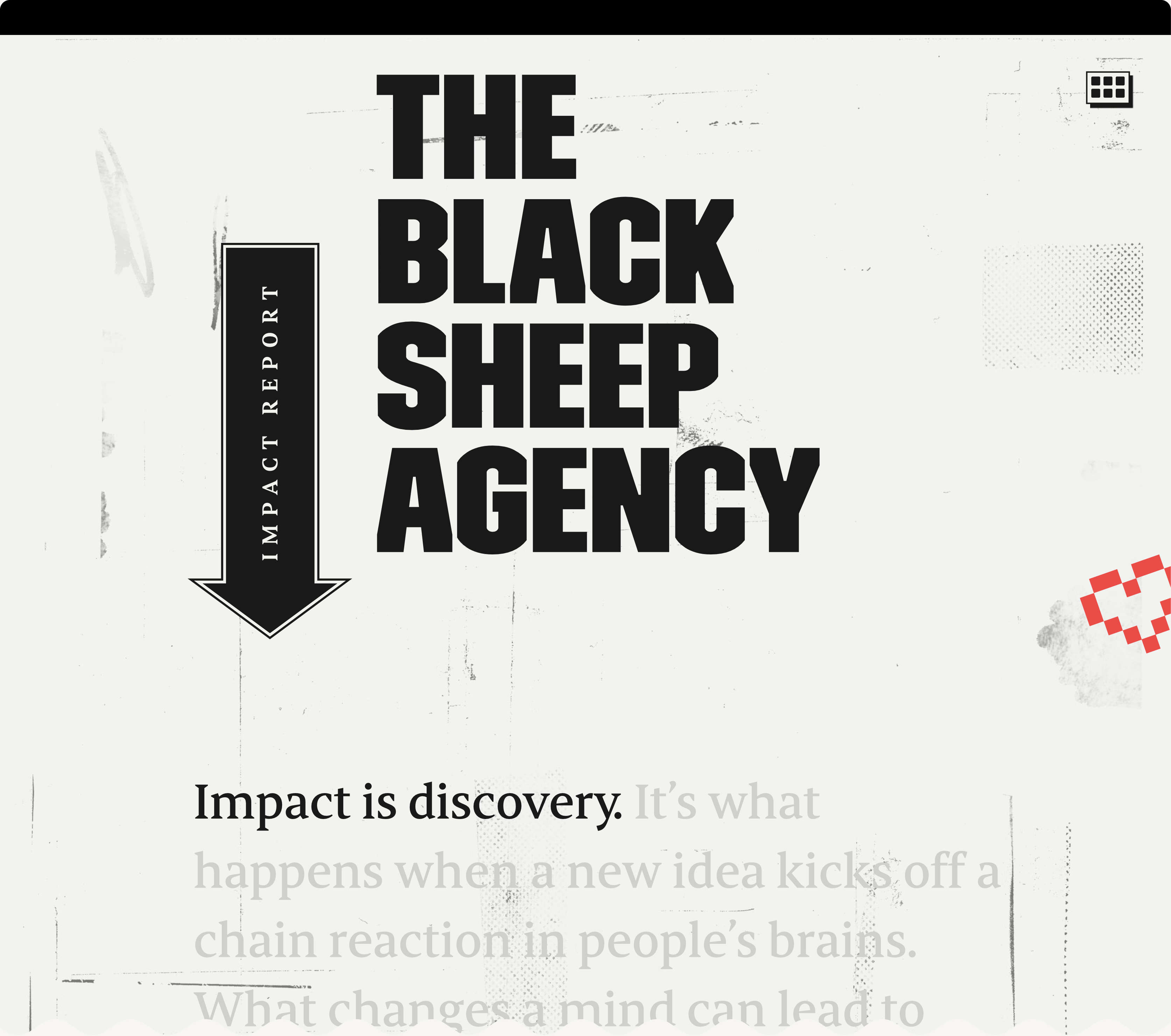 Black Sheep Impact Report homepage;