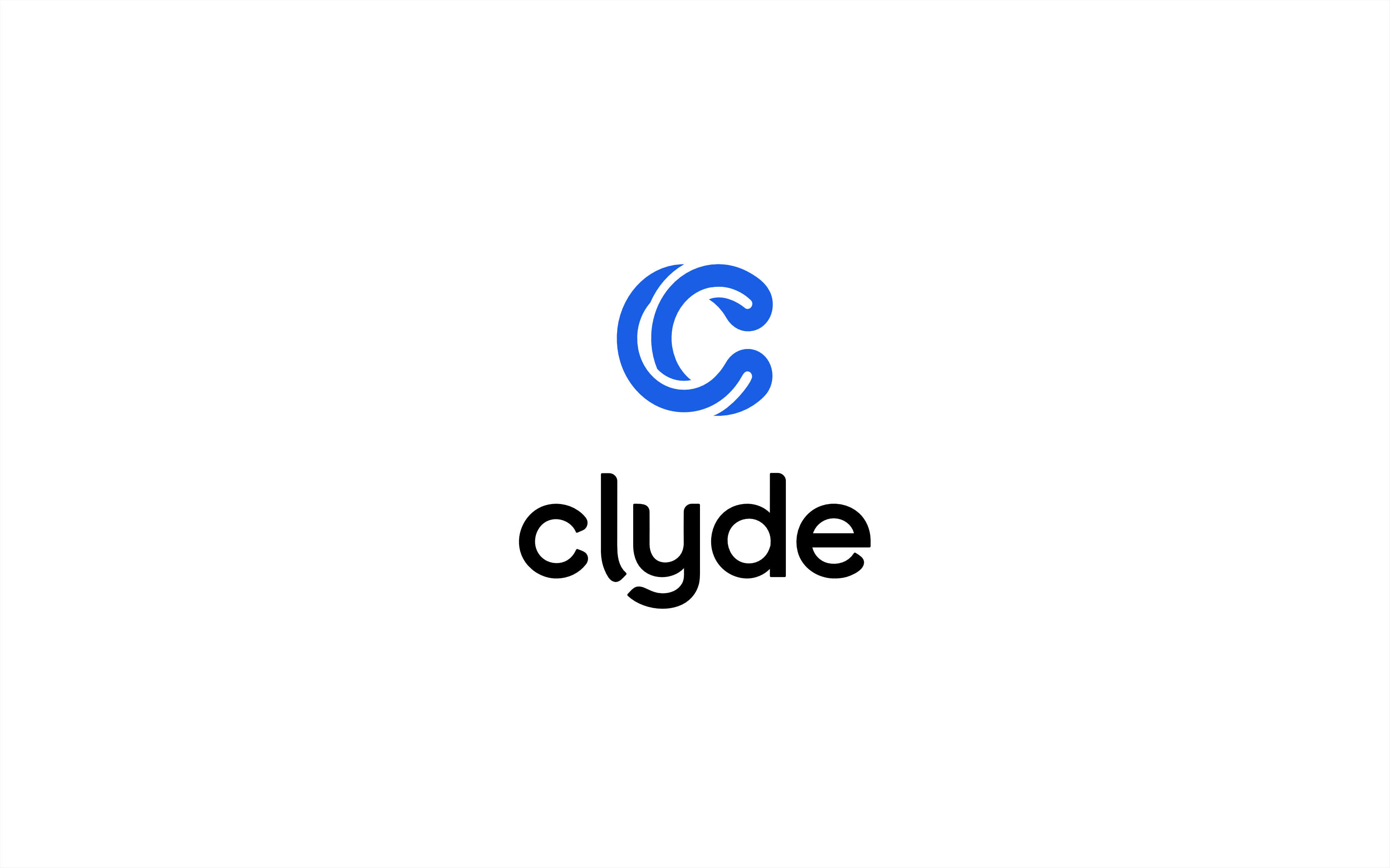 Clyde logo on white color field.