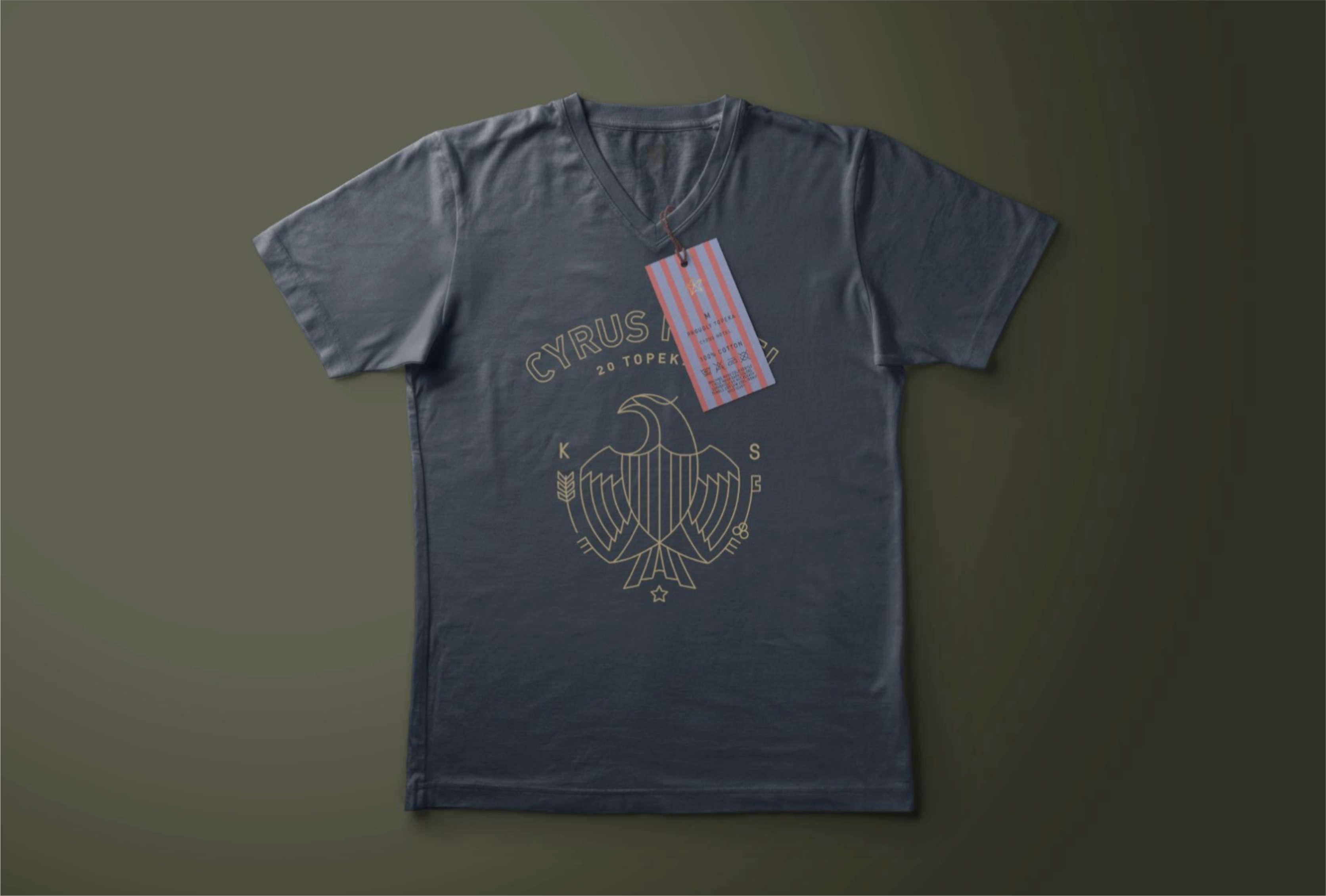 Cyrus Hotel t-shirt design.