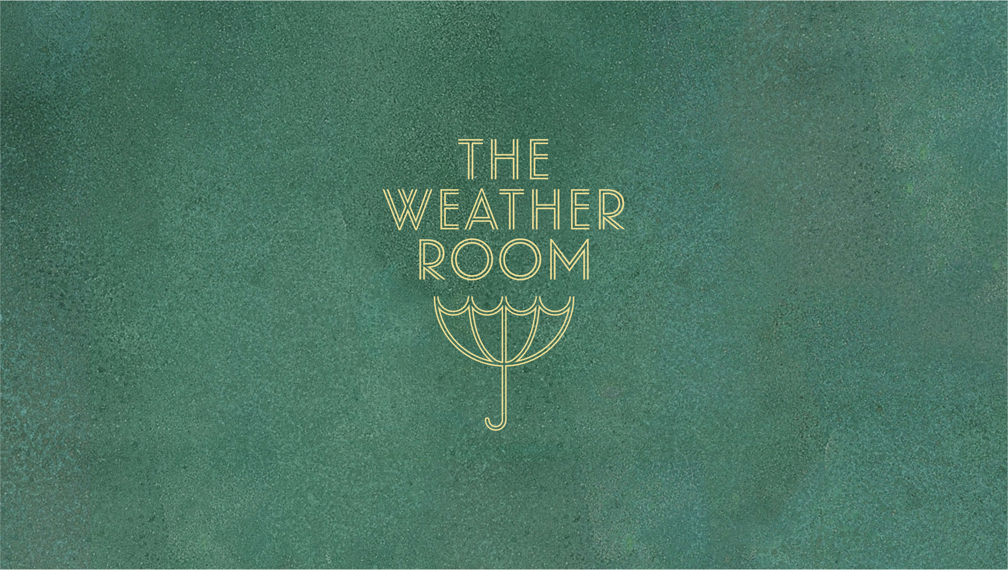 The Weather Room logo on green color field.