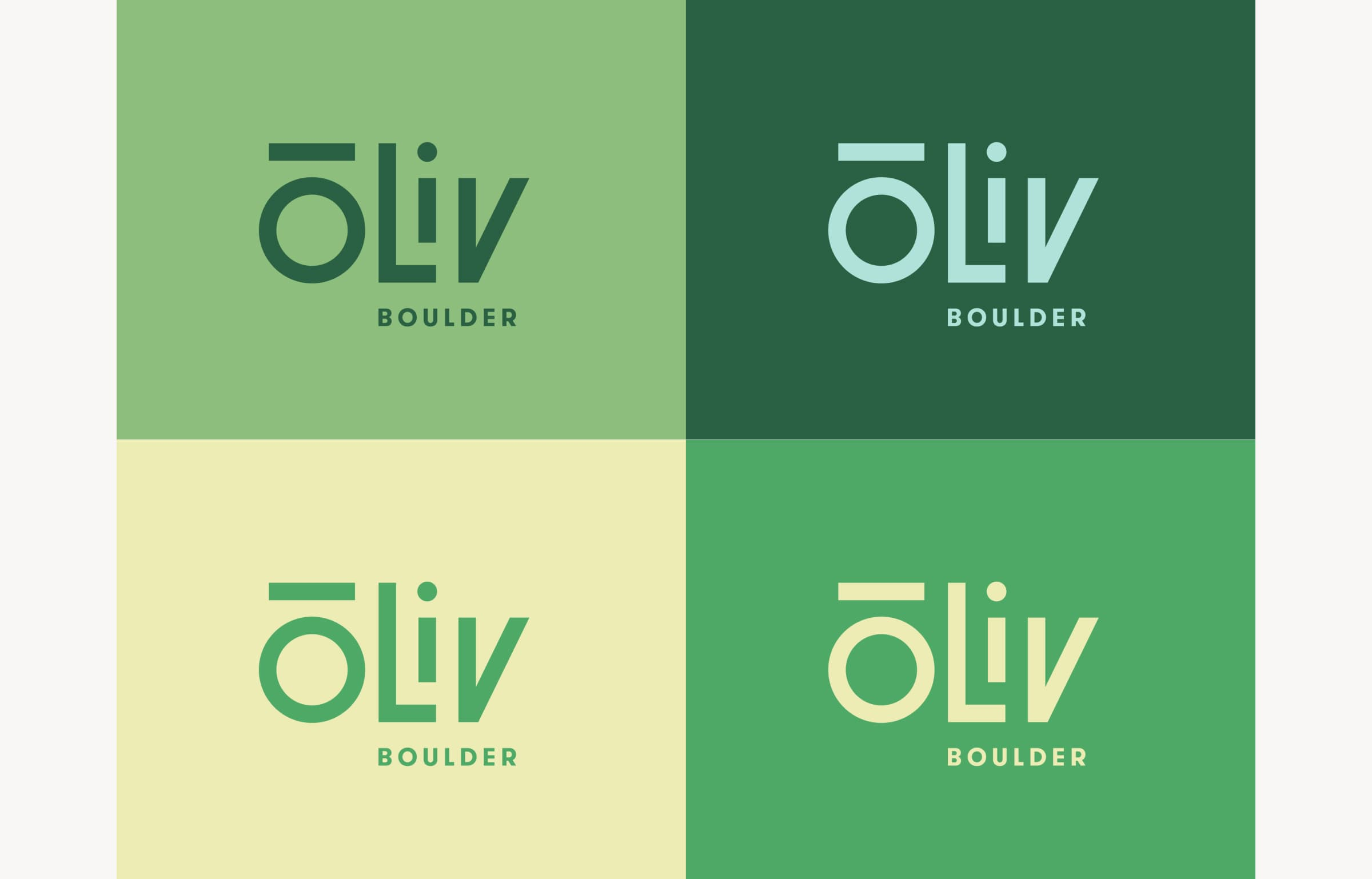 A image showing how ōLiv's logo and color scheme is localized for the Boulder, Colorado property.