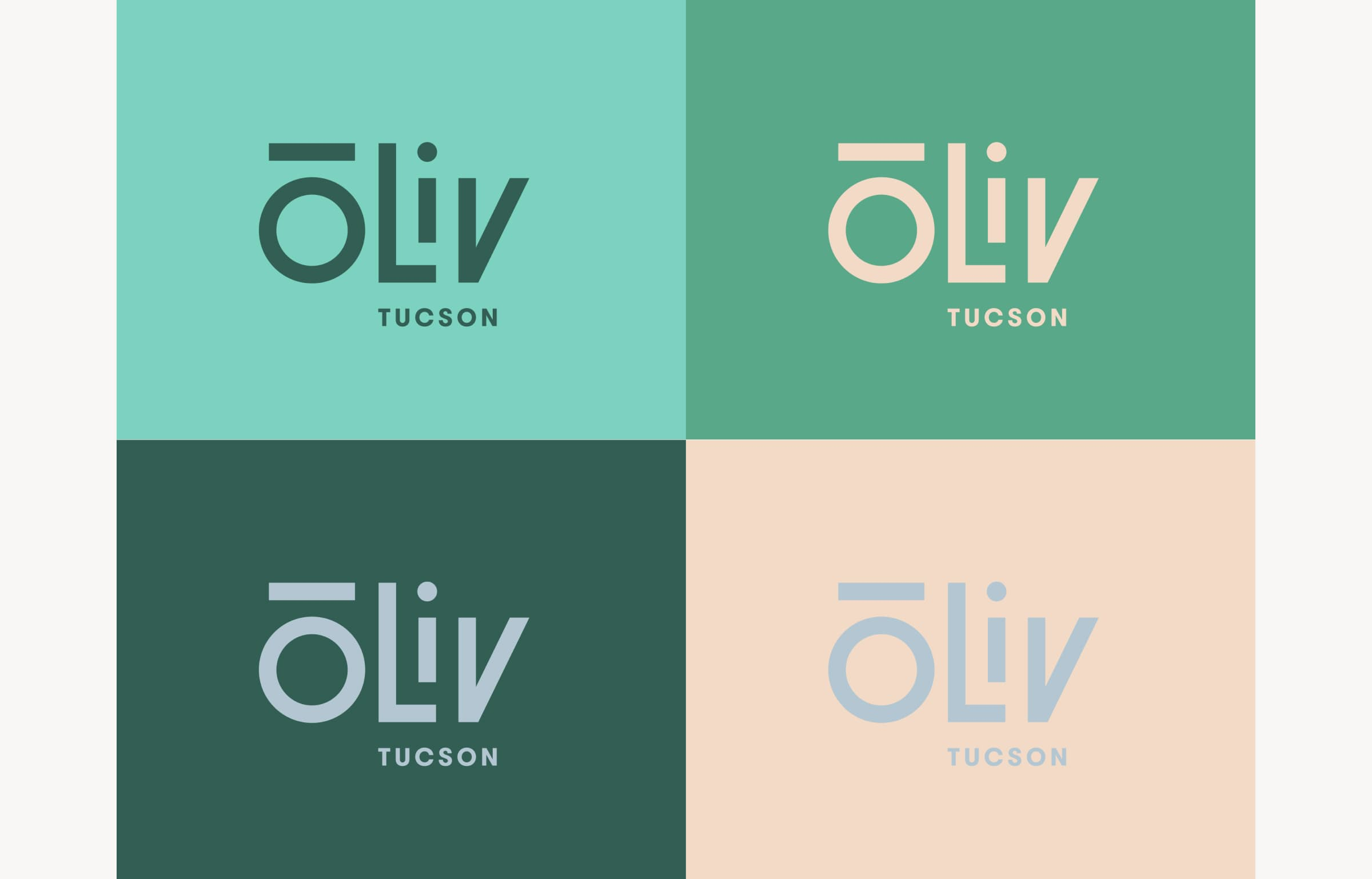 A image showing how ōLiv's logo and color scheme is localized for the Tucson, Arizona property.