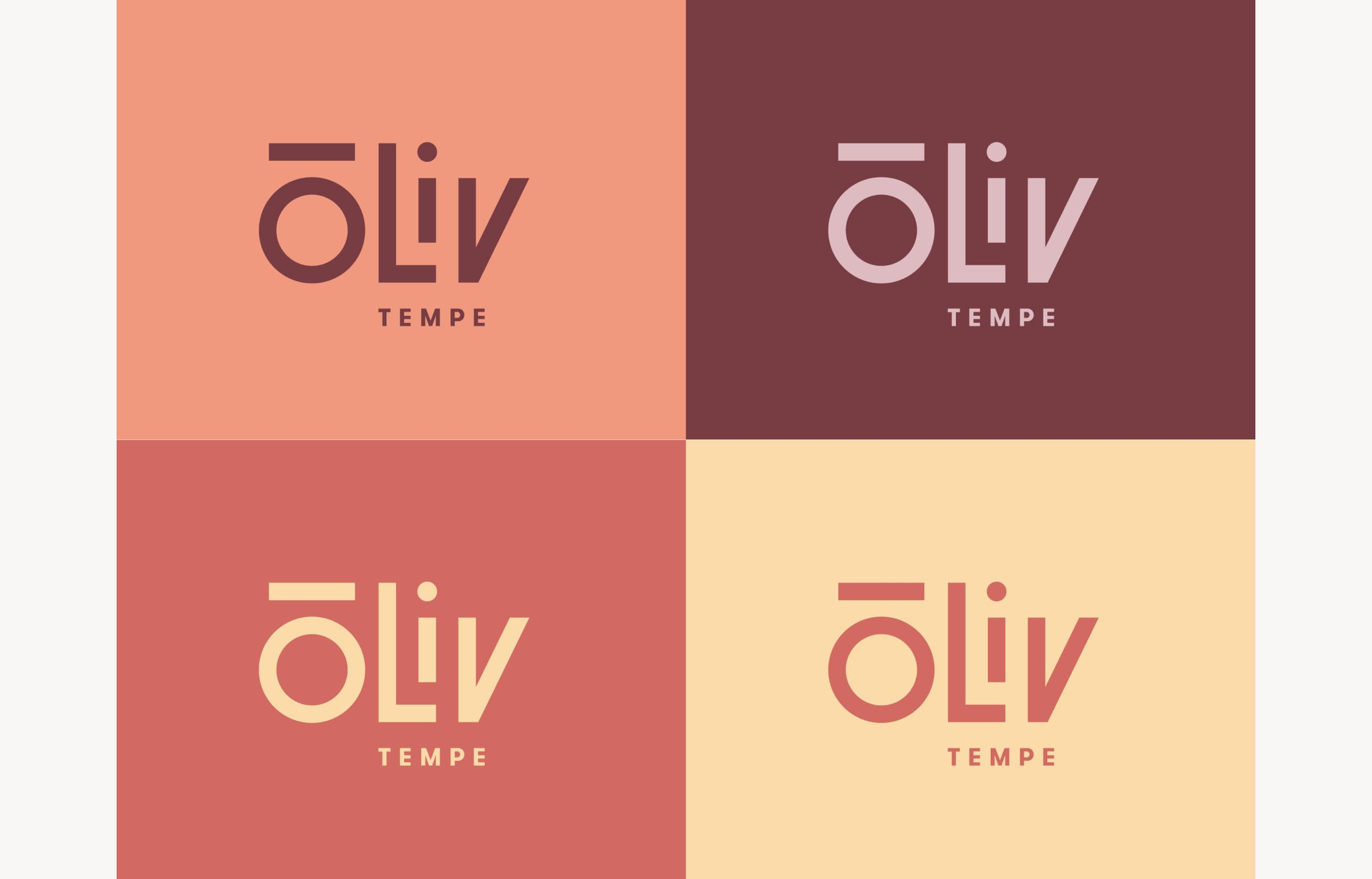 A image showing how ōLiv's logo and color scheme is localized for the Tempe, Arizona property.