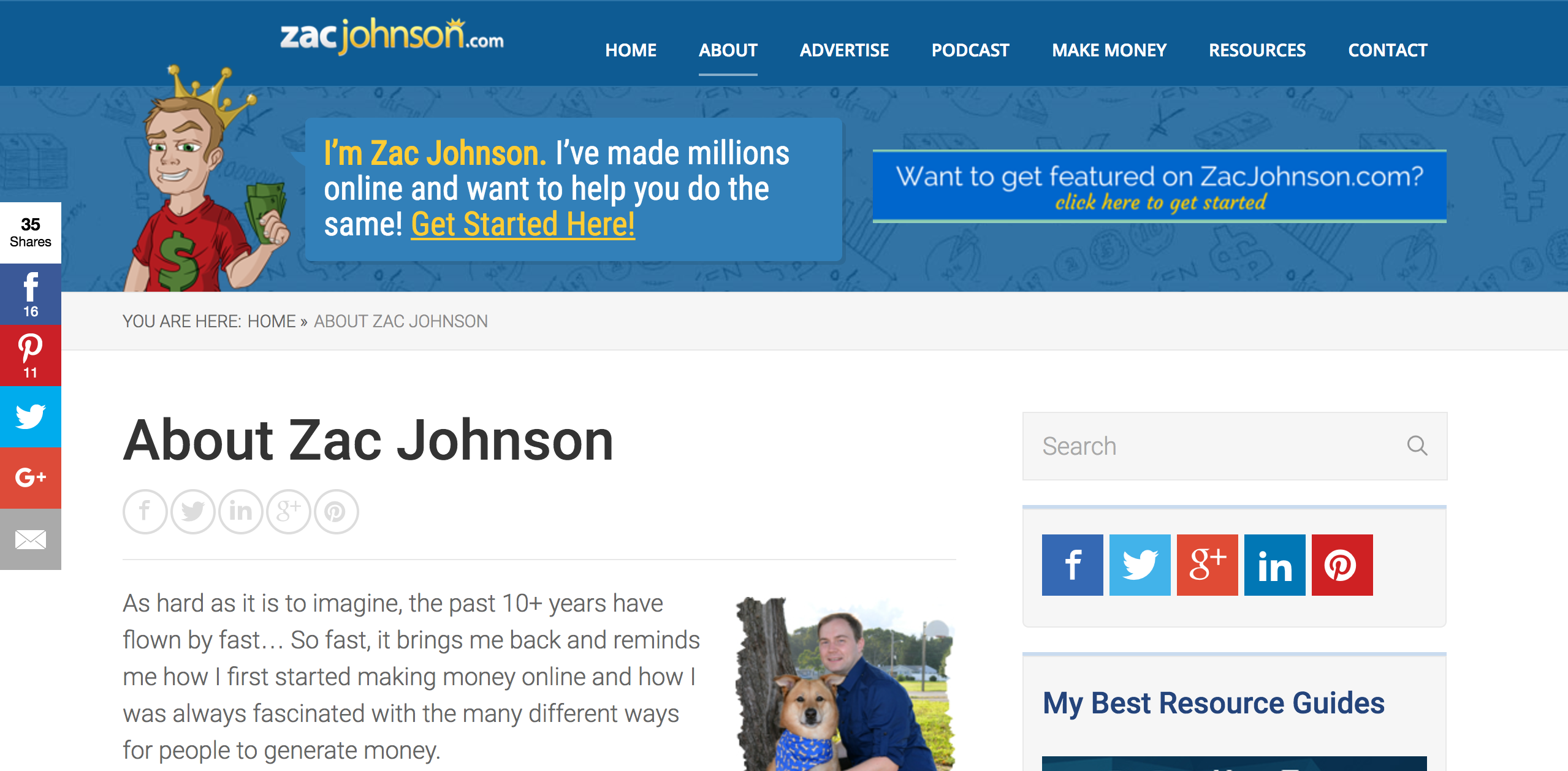 Zac Johnson Affiliate Marketing Blog