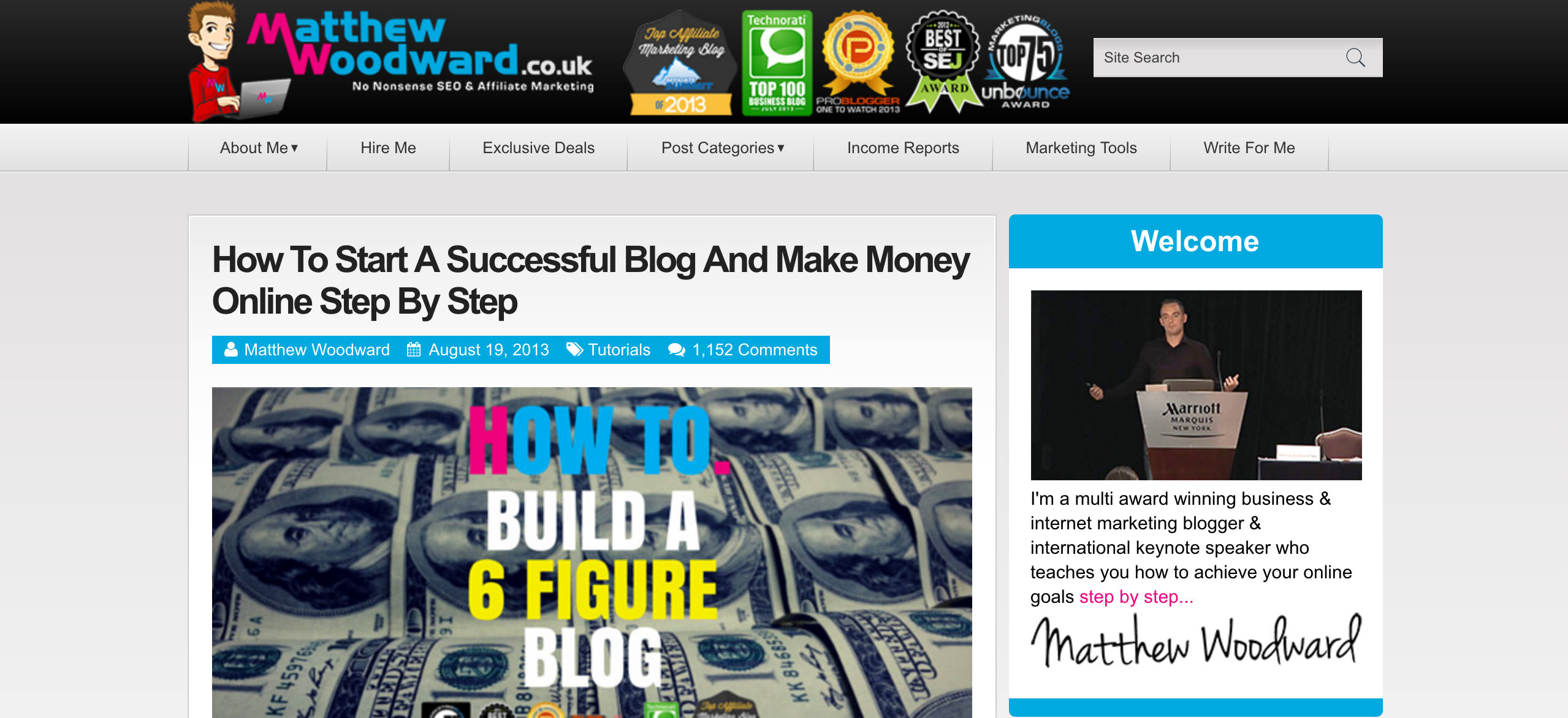 Matthew Woodward Affiliate Marketing and SEO Blog