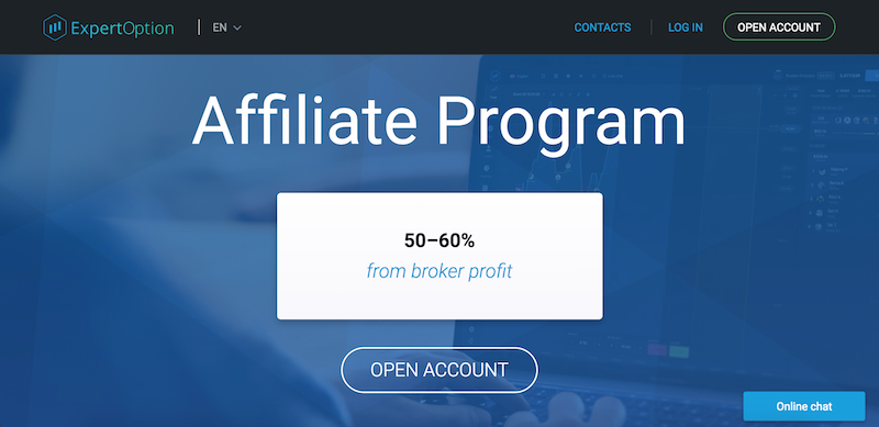 Expert Option Affiliate Program