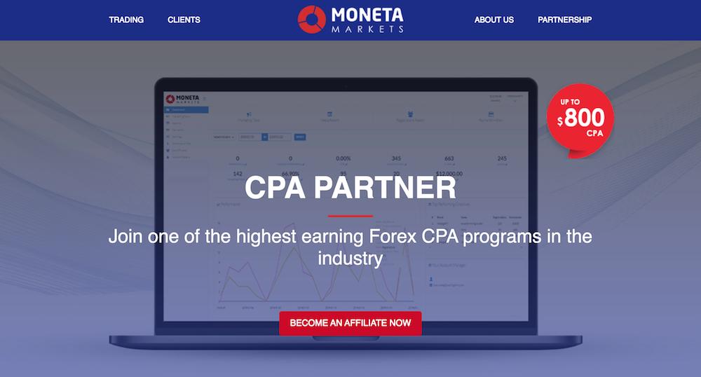 Moneta Markets CPA Partners Program