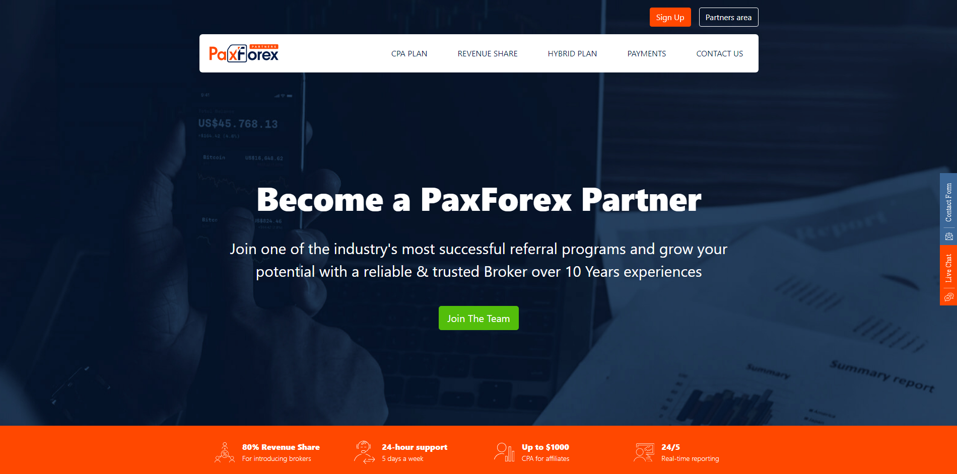 PaxForex Partnership Program