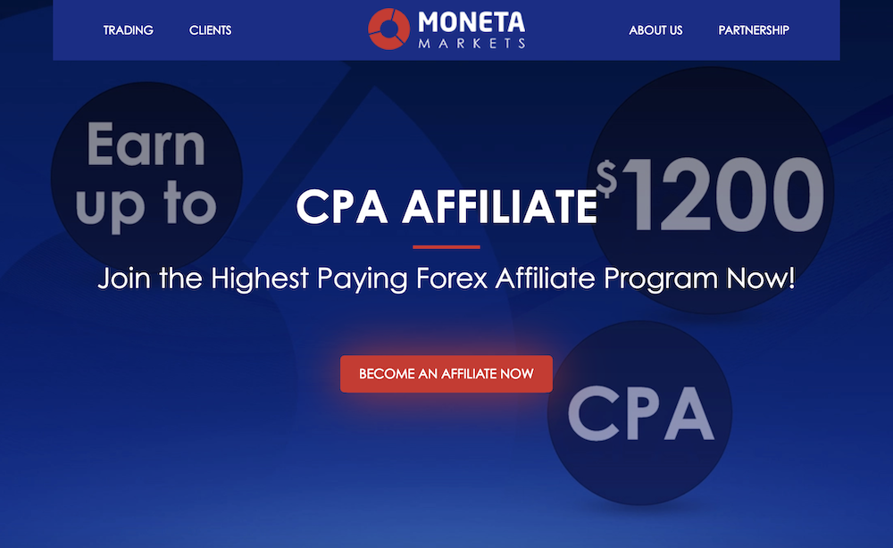 Moneta Markets Affiliate Program Banner