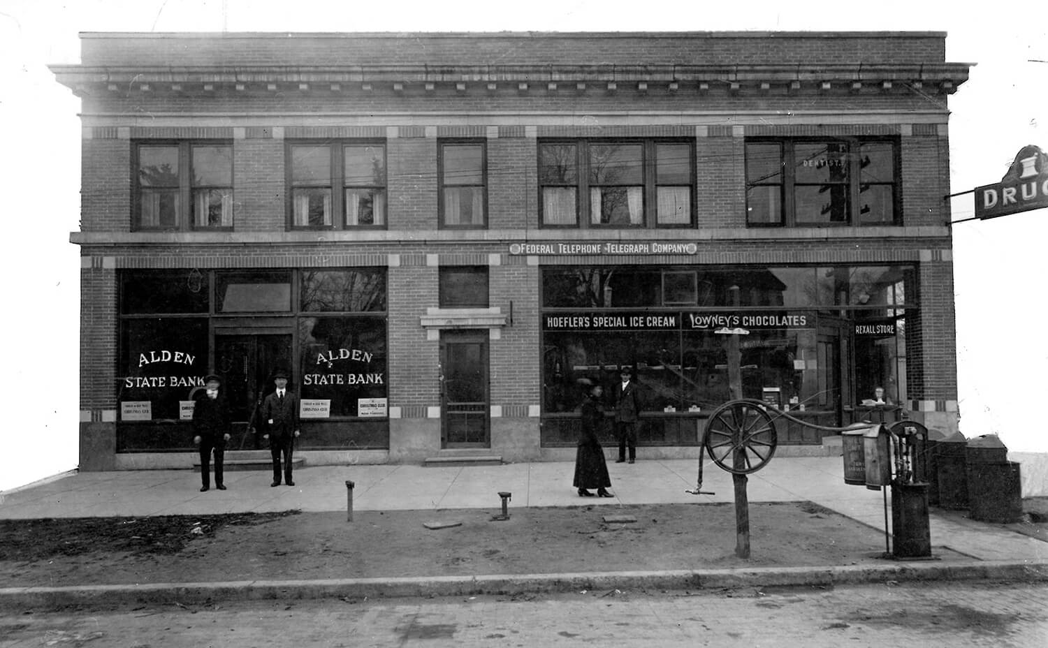 Alden Pharmacy in 1911