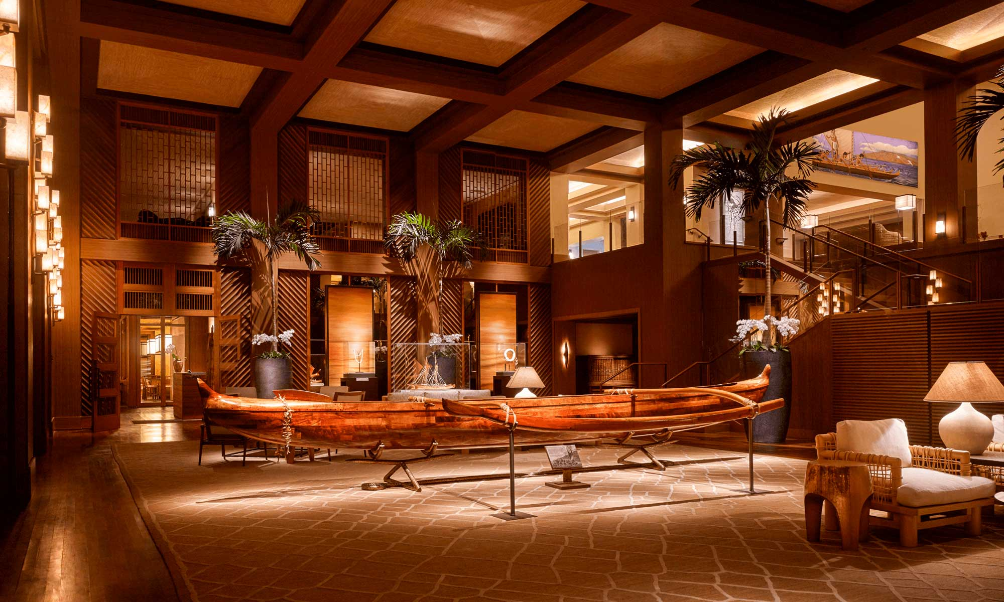 The Four Seasons Resort, Lanai - Main lobby Architecture