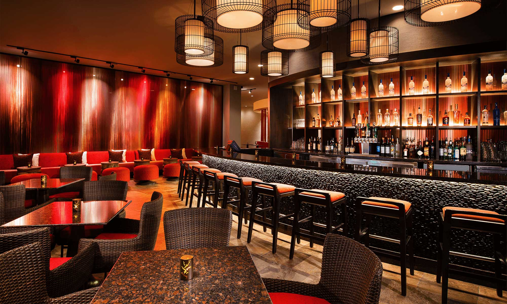 Sheraton Waikiki Hotel- Rumfire Waikiki Restaurant and Nightclub , interior design and layout
