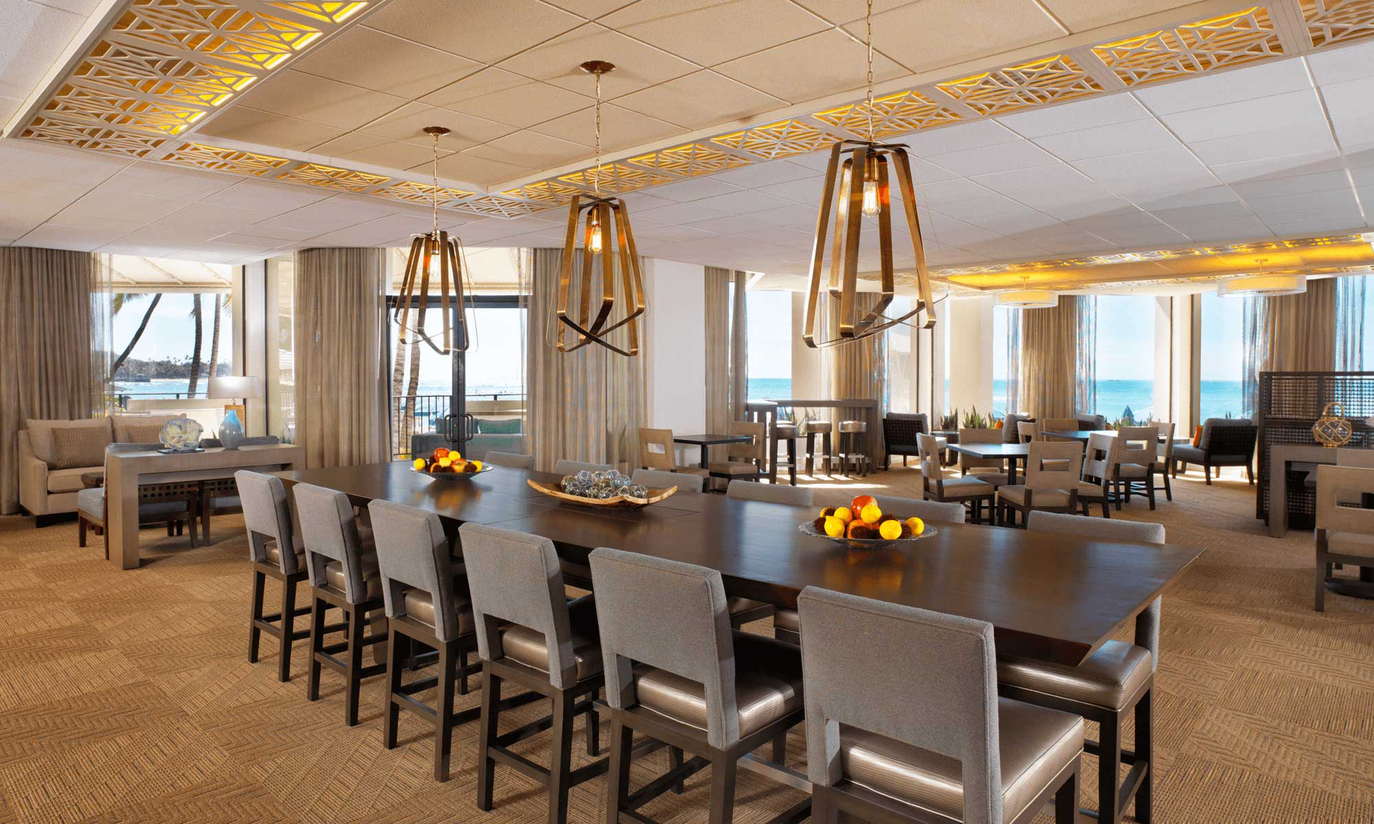 Moana Surfrider Beach Club Architecture, Interior Design, and layout