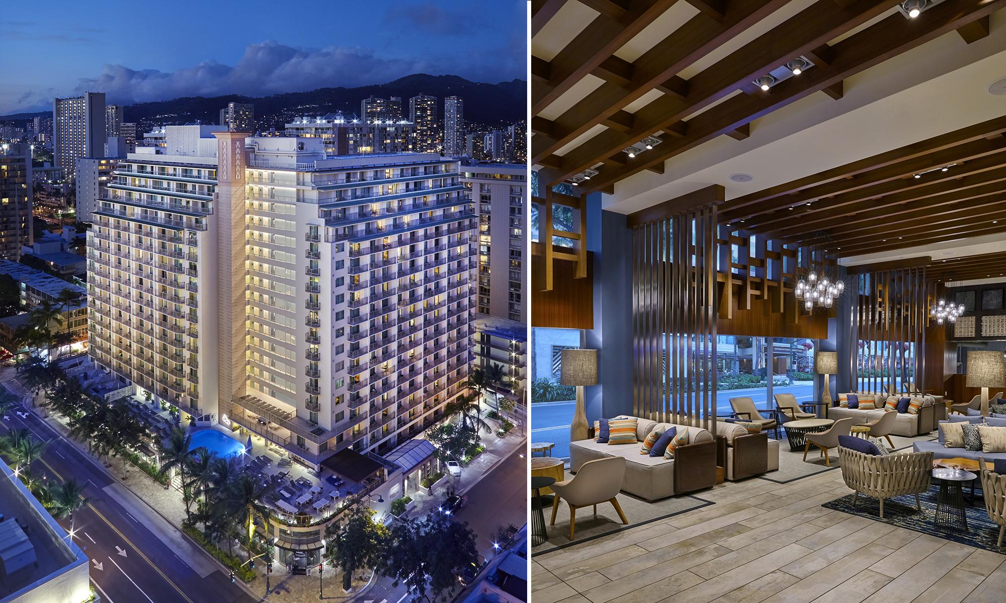 Hilton Garden Inn Waikiki Beach Podium, Pool Deck, Guestroom Renovation