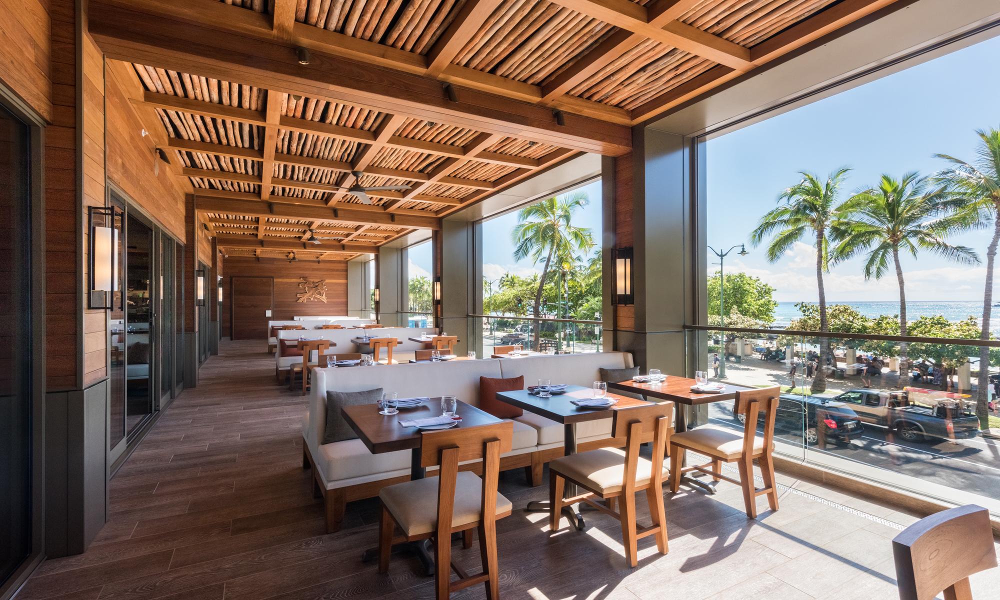 Alohilani Resort Waikiki Beach Morimoto Asia Restaurant - Architecture