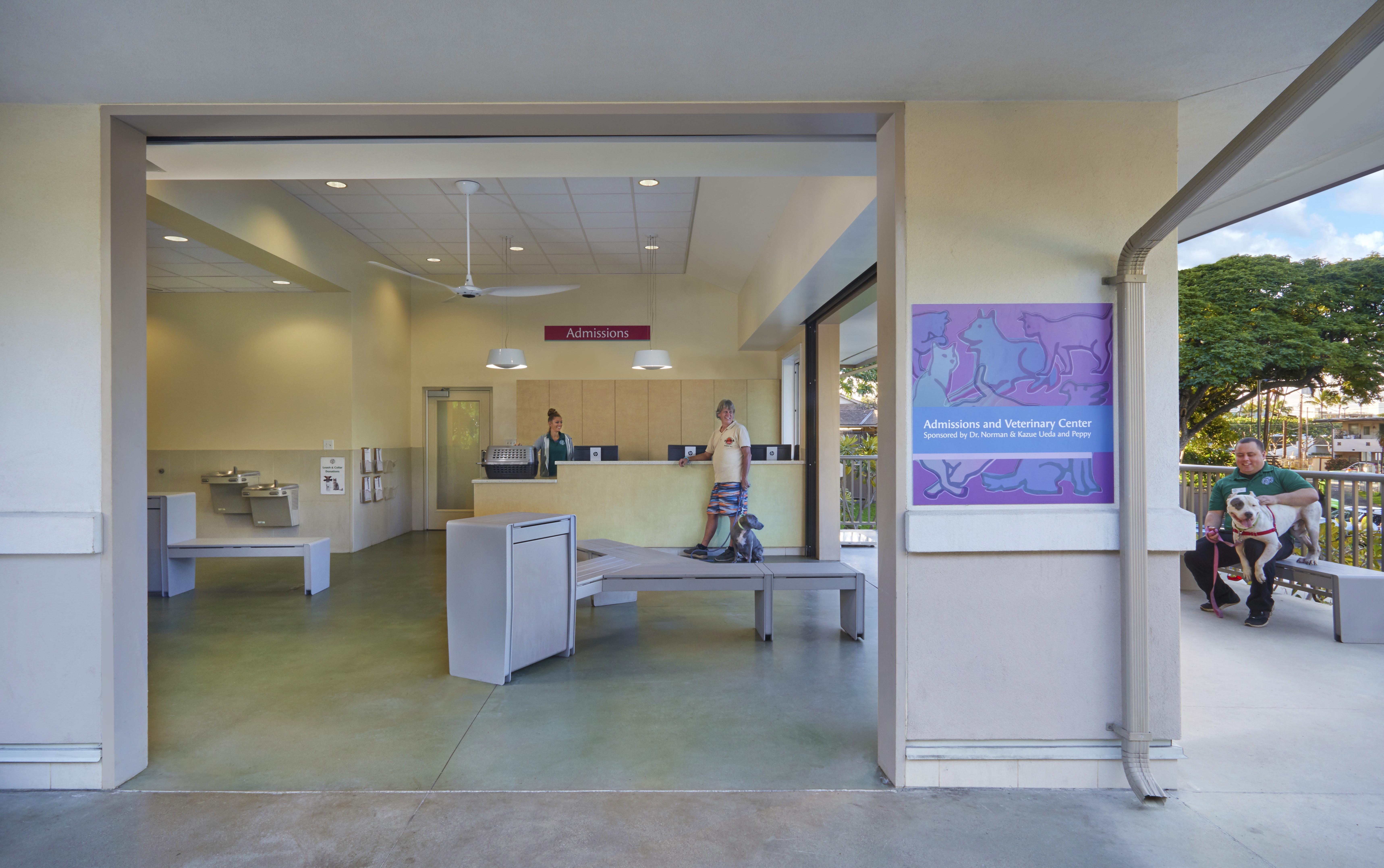 Hawaiian Humane Society Admissions Building - Interior Design & Architecture