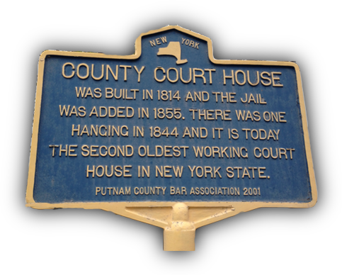 County Court house founding sign