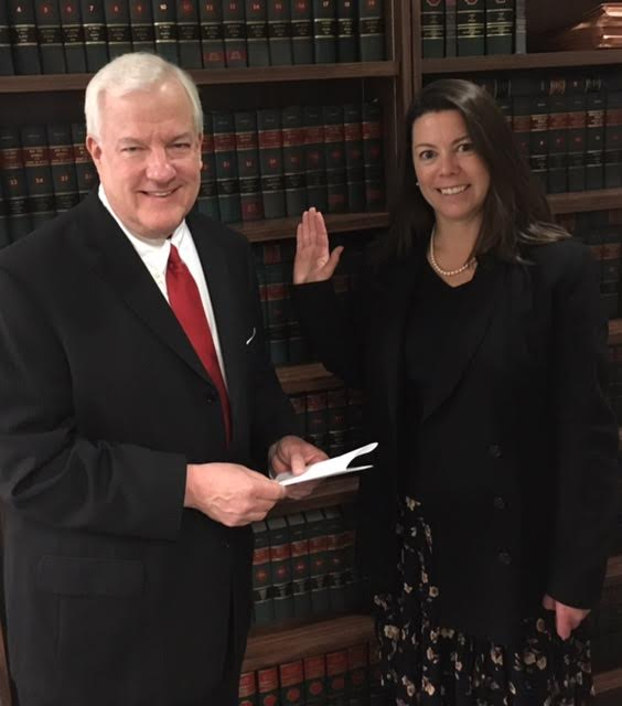 A lawyer swearing in