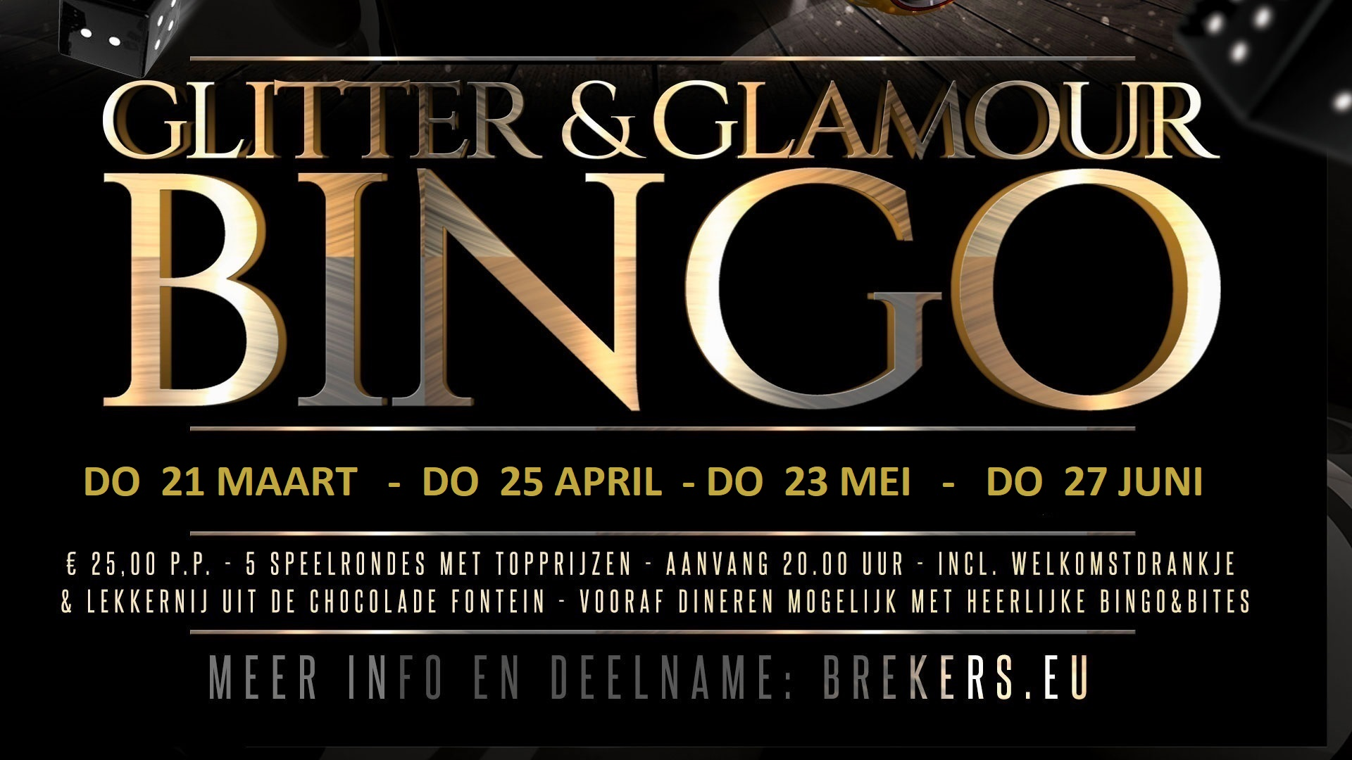 Glitter & Glamour Bingo 25 april